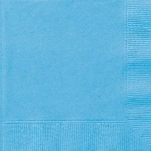 20pk Light Powder Blue Solid Colour Beverage Luncheon Napkins Serviettes 30891 30892
