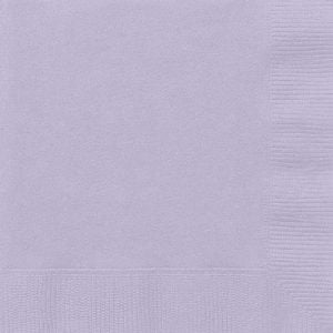 20pk Lavender Solid Colour Beverage Luncheon Napkins Serviettes 31351 31352