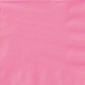 20pk Hot Pink Solid Colour Beverage Luncheon Napkins Serviettes 31391 31392