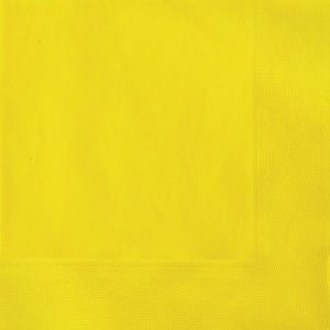 20pk Yellow Solid Colour Beverage Luncheon Napkins Serviettes 3181 3182