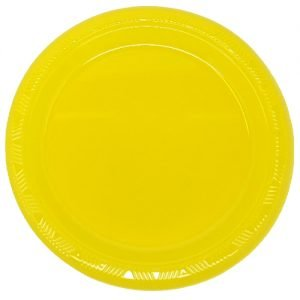 Yellow Solid Colour Plastic Plates Party Tableware 32001 32002