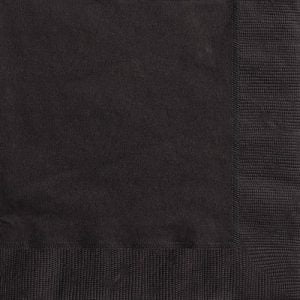 20pk Black Solid Colour Beverage Luncheon Napkins Serviettes 3201 3202
