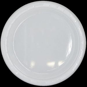 White Solid Colour Plastic Plates Party Tableware 32131 32132