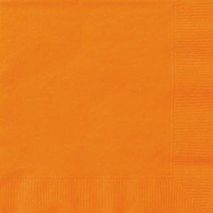20pk Orange Solid Colour Beverage Luncheon Napkins Serviettes 3221 3222