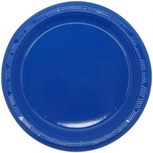 Royal Blue Solid Colour Plastic Plates Party Tableware 32755 32756