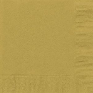 20pk Gold Solid Colour Beverage Luncheon Napkins Serviettes 3321 3322