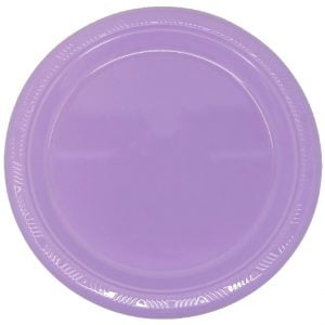 Lavender Solid Colour Plastic Plates Party Tableware 34346 34347
