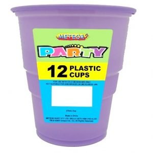 12pk Lavender Solid Colour Plastic Cups 34349