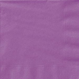20pk Purple Solid Colour Beverage Luncheon Napkins Serviettes 34471 34472