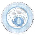 Umbrellaphant Baby Shower Boys Blue Foil Balloon 45cm (18″) 41707