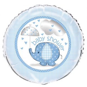 "Umbrellaphant Baby Shower Boys Blue Foil Balloon 45cm (18"") 41707"
