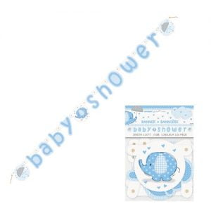 Umbrellaphant Baby Shower Boys Blue Paper Jointed Banner 1.6m (5.24') 41709
