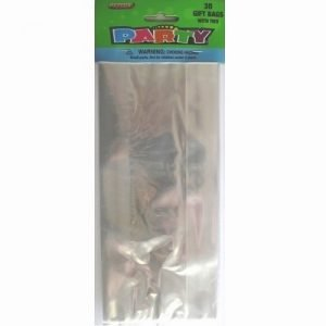 30pk Clear Cello Cellophane Gift Loot Lolly Party Bags 62008