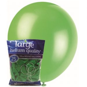 25pk Jade Green Solid Colour Latex Round Balloons 30cm
