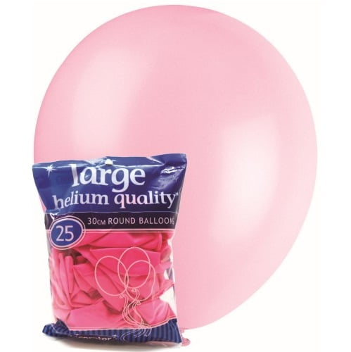 25pk Pink Solid Colour Latex Round Balloons 30cm Party Decorations MFBD-2543