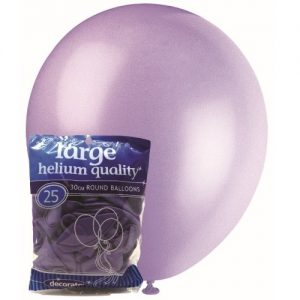 25pk Lavender Solid Colour Latex Round Balloons 30cm Party Decorations MFBD-2524
