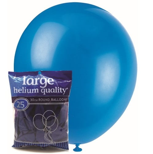 25pk Royal Blue Solid Colour Latex Round Balloons 30cm Party Decorations MFBD-2527