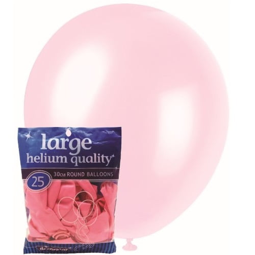25pk Baby Pink Solid Colour Latex Round Balloons 30cm Party Decorations MFBD-2529