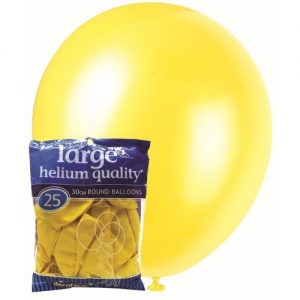 25pk Yellow Solid Colour Latex Round Balloons 30cm Party Decorations MFBD-2541