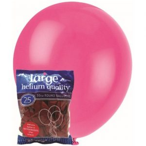 25pk Hot Pink Magenta Solid Colour Latex Round Balloons 30cm Party Decorations MFBD-2545