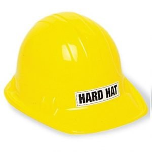 Construction Builder Yellow Plastic Party Safety Hard Hat 12248