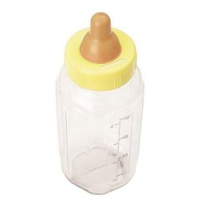 Giant Big Baby Bottle Bank Yellow Unisex Baby Shower Money Box 13575