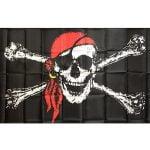 Large Jolly Roger Pirate Flags Skull Crossbone 19033