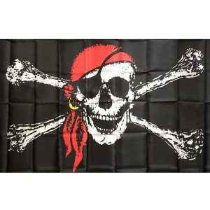 Large Jolly Roger Pirate Flags Skull Crossbone 19033