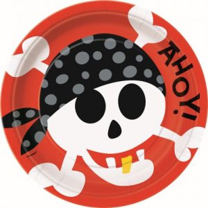8pk Pirate Fun Large Paper Plates 40495