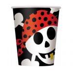 8pk Pirate Fun Paper Cups Tableware 40496