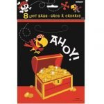 Party Bags 8pk Pirate Favour Lolly Loot Bags 40503