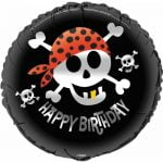 Pirate Fun Happy Birthday Foil Balloon 45cm 40507