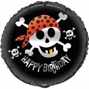 Pirate Fun Happy Birthday Foil Balloon 45cm 40507