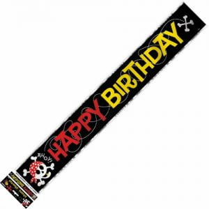 Pirate Fun Happy Birthday Foil Banner 3.6m 40508