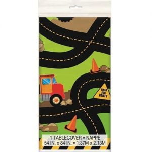 Construction Plastic Table Cover Tablecloth Party Supplies 52073