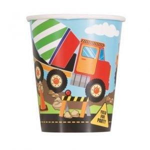 8pk Construction Paper Cups Tableware 52076