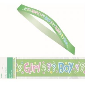 Gender Reveal Sash Baby Shower Party Accessories 61893