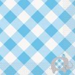 Lunch Napkins 16pk Baby Shower Boys Blue Serviettes 78392