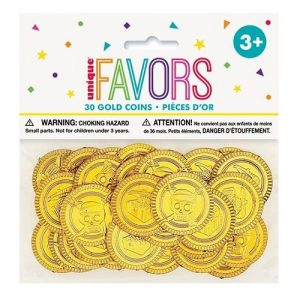 30pk Pirate Gold Coins Treasure Favours 84776