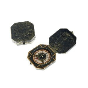 2pk Pirate Compass Prop Fake Captain Accessories E2254