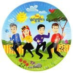 8pk The Wiggles Paper Plates 23cm 8822293