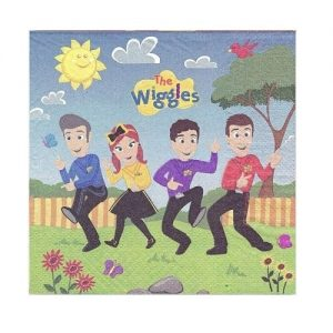 16pk The Wiggles Large Napkins Serviettes 8822316