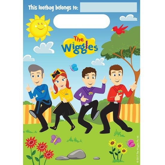 Party Bags 8pk The Wiggles Lolly Loot Favours 8822323