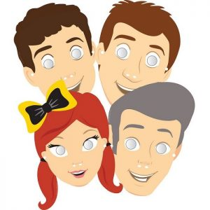 8pk The Wiggles Paper Masks 8822392