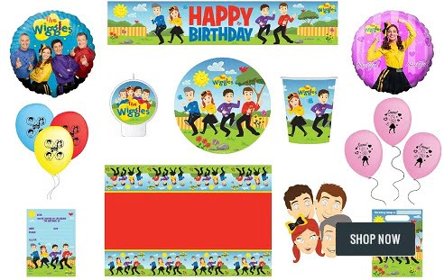 The Wiggles Party Supplies Lolly Bags Napkins Banners Masks Balloons Decorations