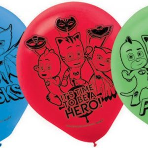 6pk PJ Masks Latex Balloons 30cm Party Decorations 111741
