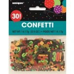 30th Birthday Confetti Table Decorations Multi-colour 45863