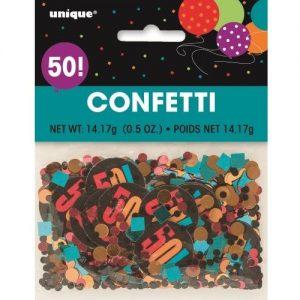 50th Birthday Confetti Table Decorations Multi-colour 45865