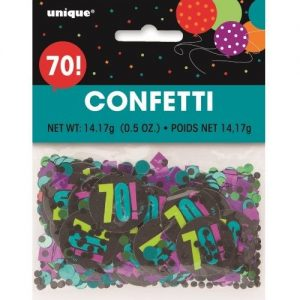 70th Birthday Confetti Table Decorations Multi-colour 45867