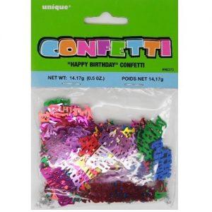Happy Birthday Confetti Table Decorations Multi-colour 90373